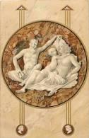 Themes Div-ref E565  - Illustrateur - Carte Postale Fond Doré-  Le Diable - Carte Bon Etat   - - 1900-1949