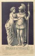 Themes Div-ref E560  - Illustrateur - Carte Postale Fond Doré- Mars Et Venus   - - 1900-1949