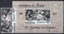 ESPAÑA 1981.EDIFIL Nº2631+SH2631.HOJA BLOQUE+SELLO PICASSO  NUEVO SIN CHARNELA. SES64GRANDE - 1981-90 Nuevos & Fijasellos