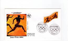 FDC Jeux D´été 2004 - Athènes - Obl Du 28/06/2004 Paris (1er Jour) - FDC