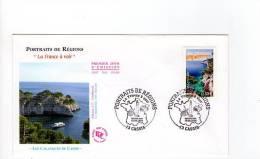 FDC Portraits Des Régions  - Les Calanques - Obl Du 18/09/2004 Cassis (1er Jour) - FDC