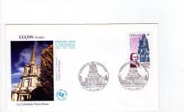 FDC Cathédrale De Luçon - Obl Du 02/10/2004 Luçon (1er Jour) - FDC