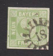 Bavaria, Scott #6, Used, Complete Circle, Issued 1850 - Bavaria