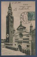 LOMBARDIA - CP CREMONA - CATTEDRALE E TORRAZZO - EDIT. COSTANTINO GHELFI CREMONA 66605 - CIRCULEE EN 1914 - Cremona