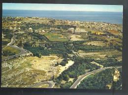 SIRACUSA  Dalla Ereo -zona Archeologica Con CAMPO SPORTIVO  Cartolina  Viaggiata 1971 - Siracusa