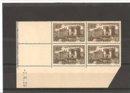 23e  ANNIVERSAIRE DE LA VICTOIRE DE VERDUN  N° 445** Bloc De 4 Coin Daté - 1930-1939