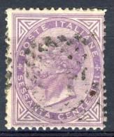 Regno VE2 - 1863 Sass. N. L21 C. 60 Lilla Chiaro, Usato, Annullo Numerale - 1861-78 Vittorio Emanuele II