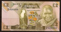ZAMBIA 2 KWACHA 1980 - 1988 P 24 UNC - Sambia
