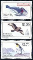 SOUTH AFRICA/Suid-Afrika 1997 Antarctic Fauna 3v** - Antarctic Wildlife