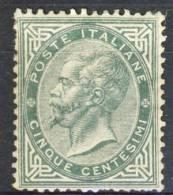 Regno VE2 - 1863, Sass N T16 Verde Grigio Scuro, MH, Ottima Centratura, Firmato Biondi Cat. € 2750 - Neufs