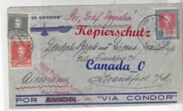 B  6  --  Zeppelin - Brief V . Cordoba N. Frankfurt/M  ( Deutsche Bank )  28.6.1934 - Covers & Documents