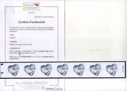 ADHESIFS N° 3633Ba CHANEL EN BANDE HORIZONTALE COMPLETE DE FEUILLE 1er TIRAGE AVEC CERTIFICAT MARZIANO - France