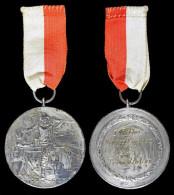 AG00105 Tir Schot Schuss, Suisse Schweiz, Königschiessen 1925 Treue Uhlen Types En Tyrolienne Qui Tirent Argent 24 G. - Jetons & Médailles