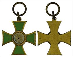 M01363 Croix Tir Schot Schuss Tir, Croix Avec Cible émail Vert Et Blanc (8 G.) - Jetons & Médailles