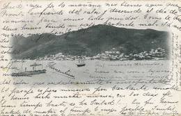 DWI Danish West Indies  Town And Harbour St Thomas   P. Used 1900 - Vierges (Iles), Amér.