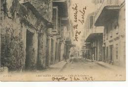 Cartagena Calle De La Cochera Edit CFRS No 46 P. Used To Cuba Via Jamaica Kingston - Colombie