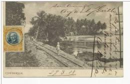 Ferro Carril Al Atlantico Northern Railway Puntarenas 1908 No 7 MV Delines - Costa Rica
