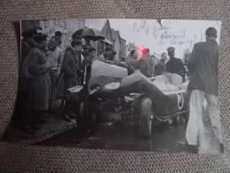 Grand Prix Des Frontières Circuit Chimay 1958 : Pilote Suédois Ulf  Norinder Sur  Maserati 200 S - Rare Photo - Automobili