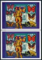 Central Africa Mushrooms Scouts Butterfly Imp. S/S Pilze Pfadfinder Schmetterling Ungez. Block (2) °BM0156 MNH - Pilze