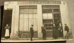 Carte Photo Devanture Gros Plan Boulangerie -  L. AUBERT - Commercio
