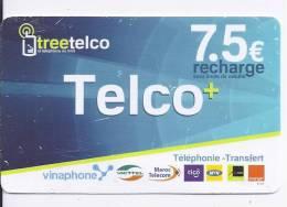 Telco + - 7.5 € Recharge - Frankrijk