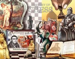 SOLOMON Isl. 2013 MNH** - History Of Chess, Elephant S/S - Eléphants