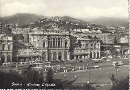 CP ITALIE Italia GENOVA STARIONE BRIGNOLE  ( Bulding Montagne Habitation Automobile Taxi Bus Tramway électrique  Trolay - Genova (Genoa)