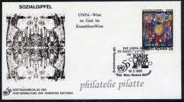 AUTRICHE HUNDERTWASSER FDC DU 19/05/1995 DE VIENNE - Wien - Internationales Zentrum