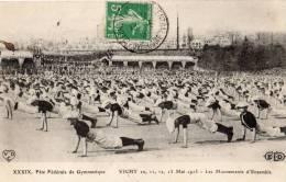 VICHY  MAI 1913 LES MOUVEMENTS D ENSEMBLE FETE FEDERALE DE GYMNASTIQUE - Vichy