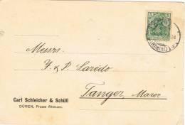 2762. Tarjeta Postal Privada DÜREN (Alemania) 1913. Perforado Cormercial, Firmenlung - Cartas