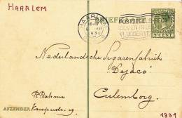 B03 - Carte Postale Hollande De 1931 - Fabrique De  Cigares Dejaco - Haarlem Vers Culenborg - Postal Stationery
