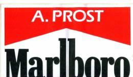 Adesivo Stiker Etiqueta PROST MARLBORO F1 - Non Classificati
