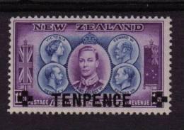 NEW ZEALAND 1943 SG 662 10d On 1½d OVERPRINT PREMIUM UNMOUNTED MINT MNH - New Zealand
