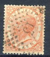 Regno VE2, 1863, Sassone N. T22, Lire 2 Scarlatto Vivo, Annullo Con Numerale A Punti 13 Cat. € 150 - 1861-78 Vittorio Emanuele II