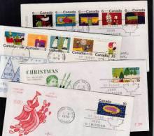 B0023 CANADA 1970, SG661-672 Christmas, Set Of 4 FDCs - 1952-.... Règne D'Elizabeth II
