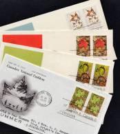 B0042 CANADA 1971, SG677-80 The Maple Leaf In Four Seasons, Set Of 4 FDCs - 1952-.... Règne D'Elizabeth II