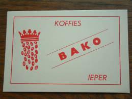 BAKO Koffies IEPER ( Voir Details Zie Foto ) ! - Café & Thé
