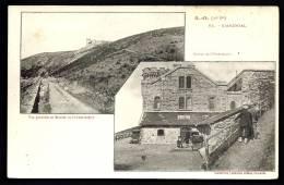 CPA ANCIENNE- FRANCE- L'AIGOUAL (30)- DEUX VUES : ROUTE DE LA MONTÉE ET ENTRÉE DE L'OBSERVATOIRE AVEC ANIMATION - Ohne Zuordnung