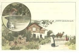 68 CPA Mulhouse Jardin Zoologique Litho Hartmann N° 4 Chameau - Mulhouse