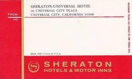 CALIFORNIA UNIVERSAL CITY SHERATON HOTEL VINTAGE LUGGAGE LABEL