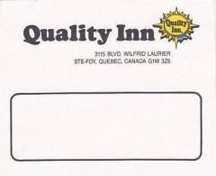 CANADA QUEBEC STE FOY QUALITY INN VINTAGE LUGGAGE LABEL - Hotel Labels