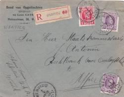 198+256 Op Brief Aangetekend Met Stempel WERVICQ - 1922-1927 Houyoux
