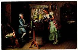 PC7581 Picture Of Mozart At The Keyboard By V. Kornerup. - Music And Musicians