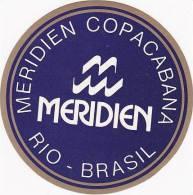 BRASIL RIO DE JANEIRO MERIDIEN COPACABANA HOTEL VINTAGE LUGGAGE LABEL - Hotel Labels