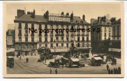 - 11 - NANTES, ( Loire-Inférieure ), La Place Royale, Café Continental DEDRE, Non écrite,  Belle Animation, TBE, Scans. - Nantes