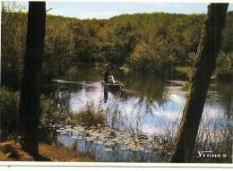 -40- LANDES - Barque Sur Le Courant D'Huchet, F .Vignes Timbrée TTB 1963 - Other Municipalities