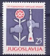 YU 1961-971 20A°ARMY, YUGOSLAVIA, 1v, MNH - Militaria