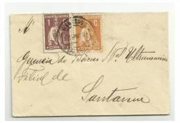 PORTUGAL - Small Letter - Error Ceres - VCC Nº XXXVII - Circulated In Santarem - Variétés Et Curiosités
