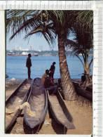 REPUBLIQUE De COTE  D  IVOIRE  -  ABIDJAN ; Scène De LAGUNE  - Pirogues - Ivory Coast