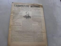 L´Agriculture  Moderne  N 80   11 Juillet  1897 - Libri, Riviste, Fumetti